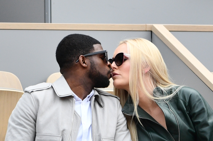 P.K. Subban and Lindsey Vonn wear sunglasses and smooch