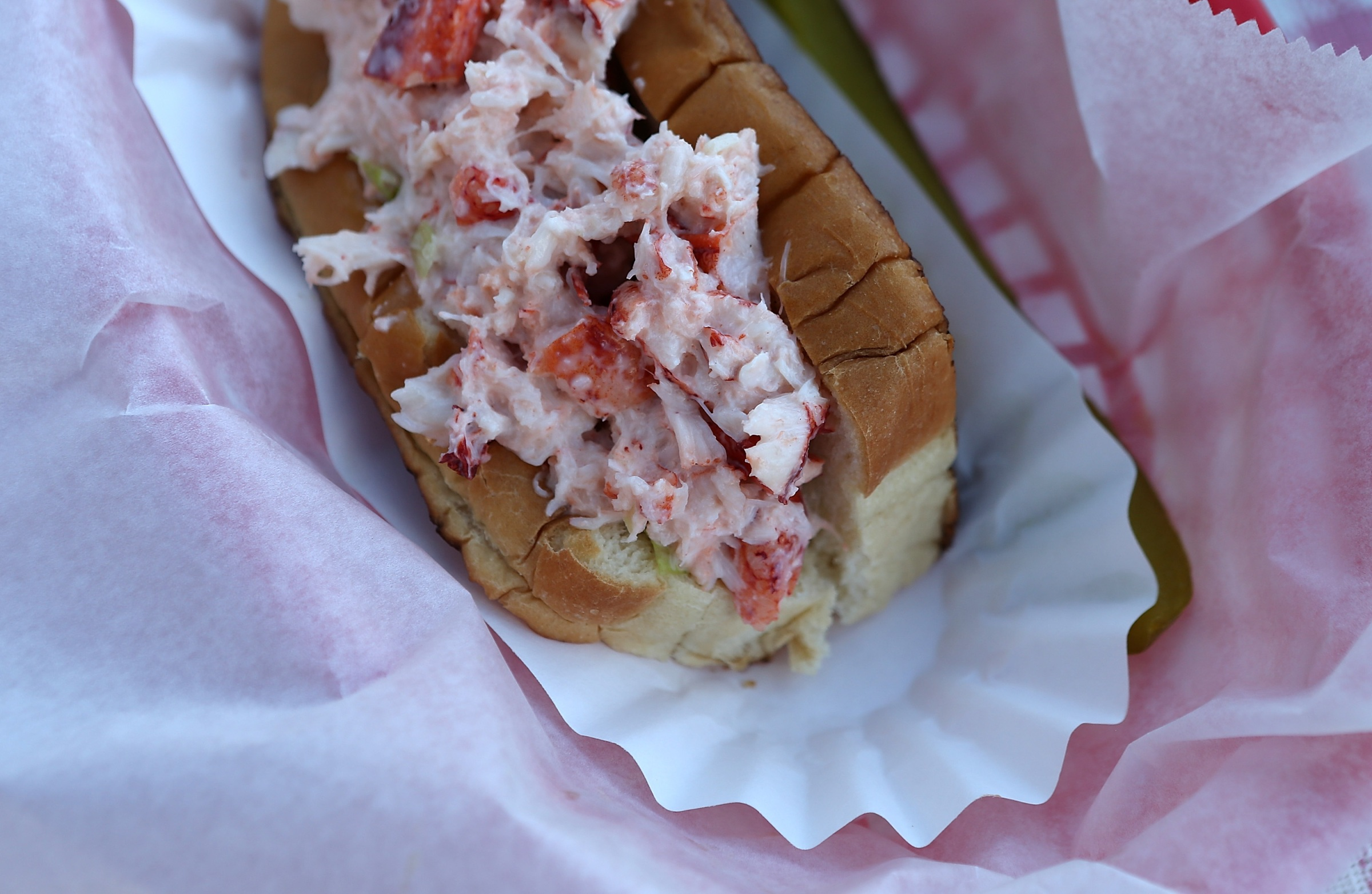 This lobster roll is from Benny's Famous Fried Clams in Portland, Maine, but you see the point.