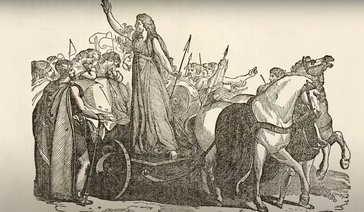 Boudica rallying her forces