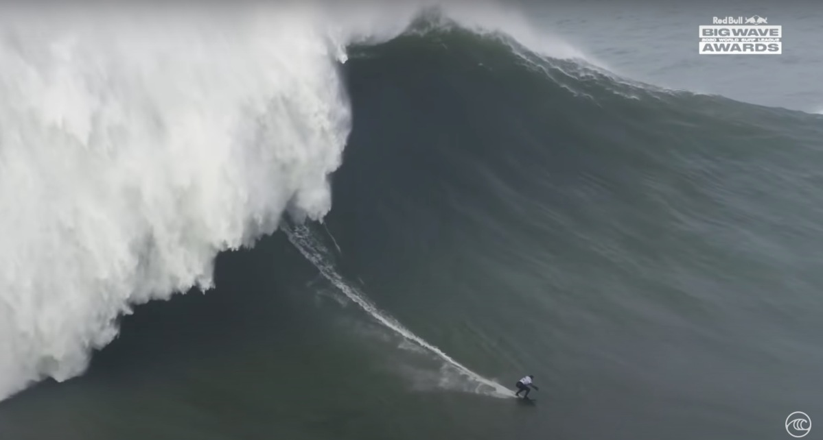 Gabeira rides out the monster wave.