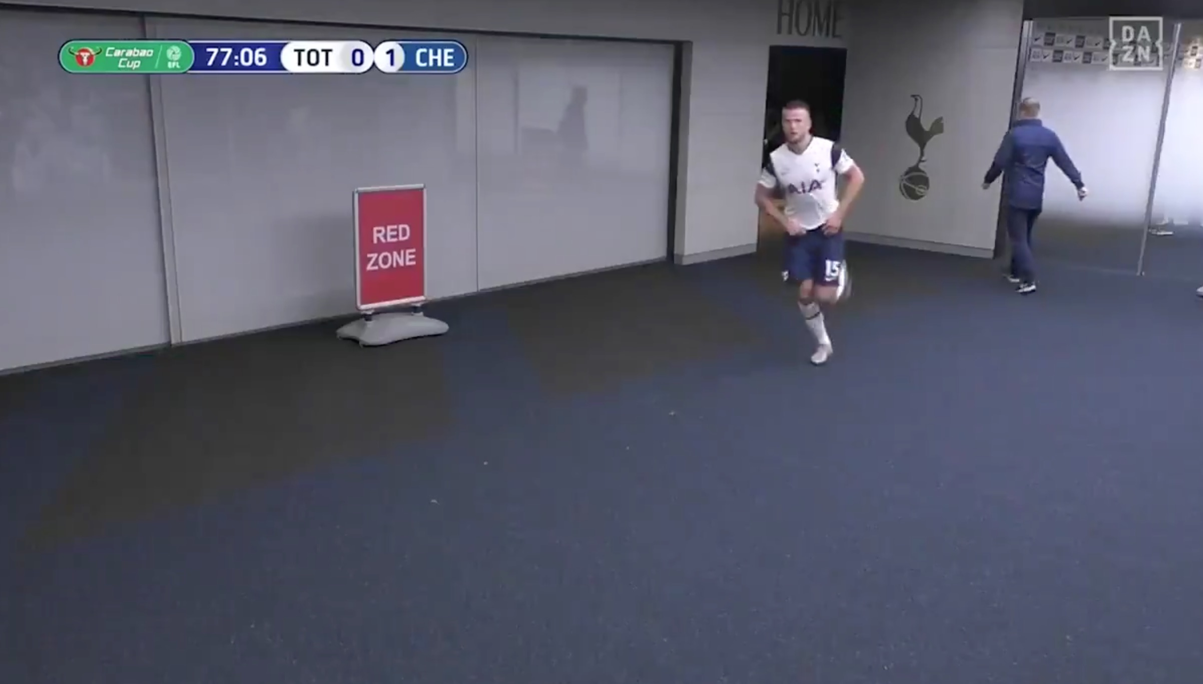 Dier returns after crapping and/or peeing.