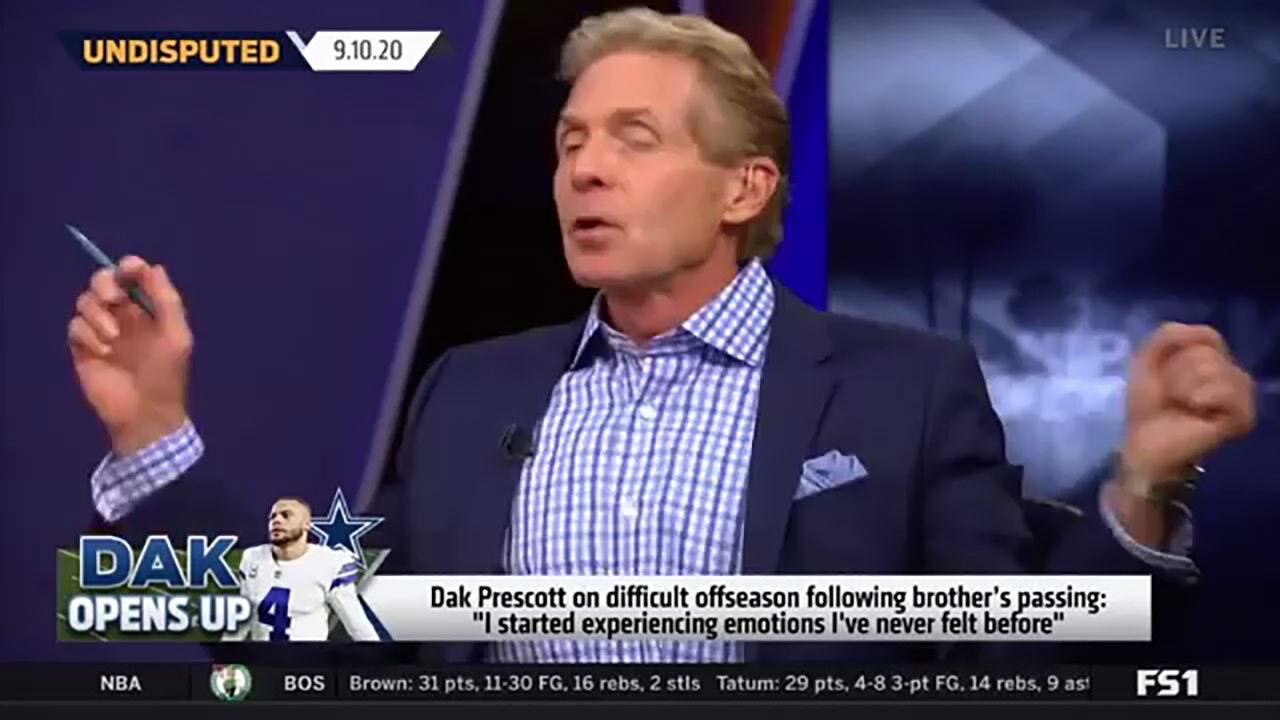 Skip Bayless disagrees with Dak Prescott acknowledging being depressed.