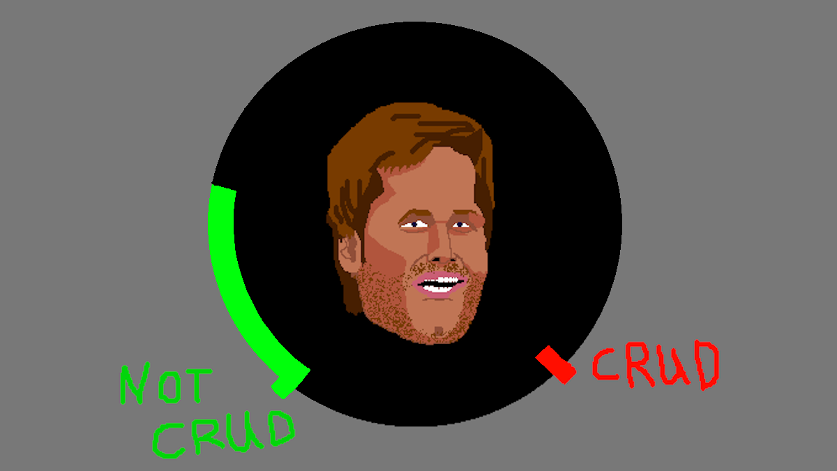 """the Crud Meter shows that Tom Brady was """"not crud"""" today"""