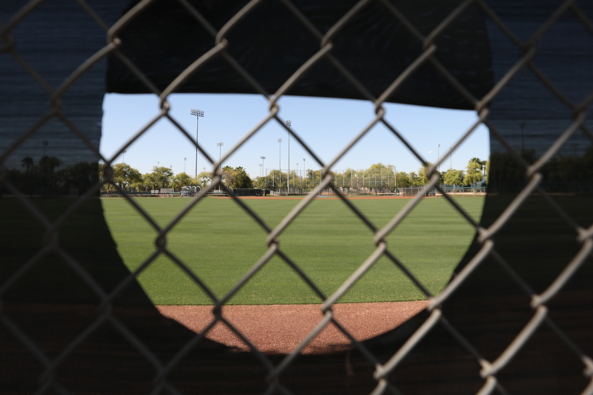 A back field at a MLB training facility in Glendale, Arizona.