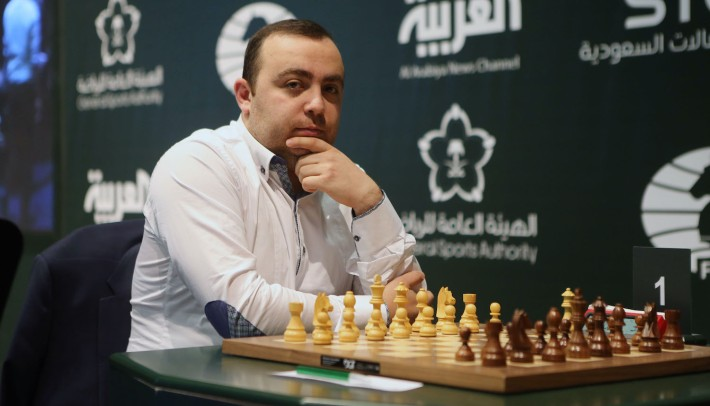 Petrosian, Tigran L. waits to compete wit Clarsen, Magnus on the Day 6 of the King Salman Rapid & Blitz Chess Championships on December 30, 2017 in Riyadh, Saudi Arabia. The Championship is taking place in Saudi Arabia for the first time with participation of 236 players from 70 countries.