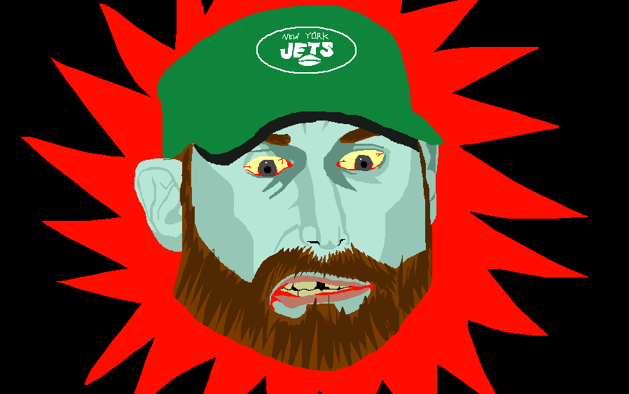 My drawing of Adam Gase as a zombie.