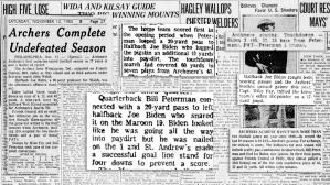 Excerpts from Joe Biden's high school football career
