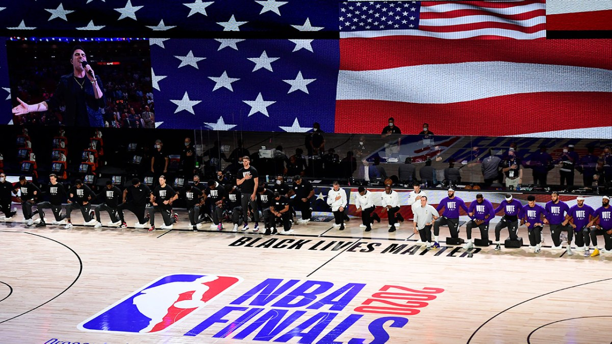 The National Anthem at the NBA Finals