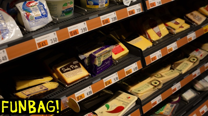SEATTLE, WA - FEBRUARY 26: Cheese is displayed for sale at Amazon Go Grocery on February 26, 2020 in Seattle, Washington. The store in Seattles Capitol Hill neighborhood is Amazons first large retail grocery location that uses the cashier-free model. (Photo by David Ryder/Getty Images)