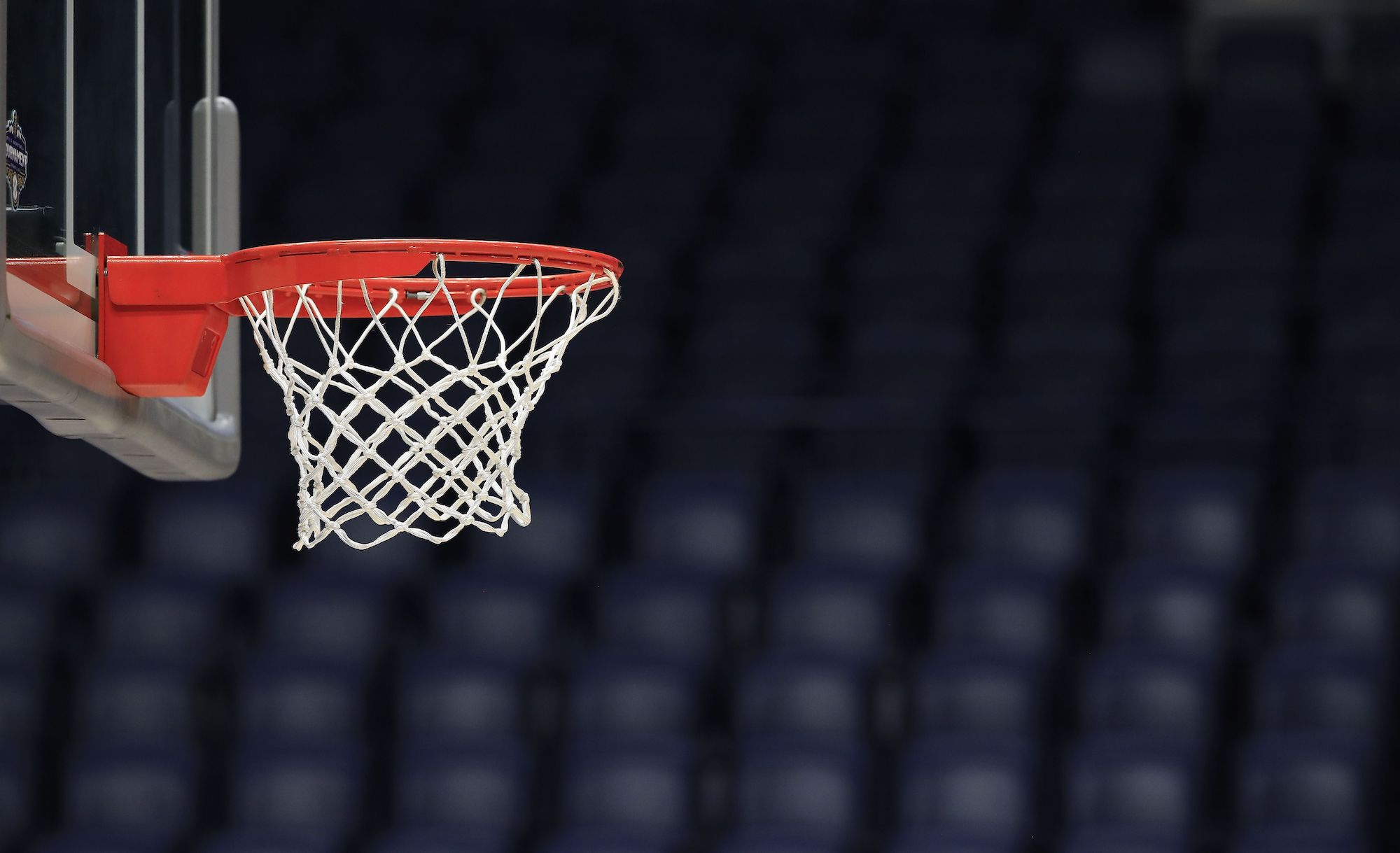 NASHVILLE, TENNESSEE - MARCH 12: The basket and the arena sit unused after the announcement of the cancellation of the SEC Basketball Tournament at Bridgestone Arena on March 12, 2020 in Nashville, Tennessee. The tournament has been cancelled due to the growing concern about the spread of the Coronavirus (COVID-19). The NCAA tournament has also been cancelled. (Photo by Andy Lyons/Getty Images)