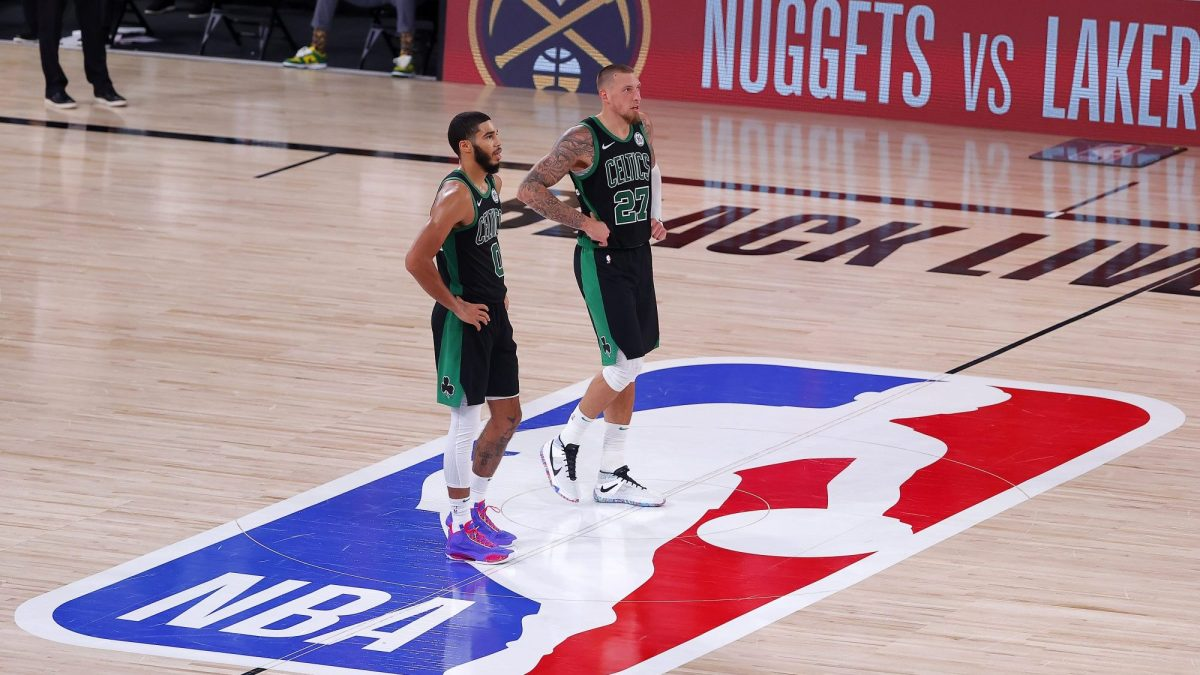 Jayson Tatum and Daniel Theis look like crap in black Celtics alternate uniforms.