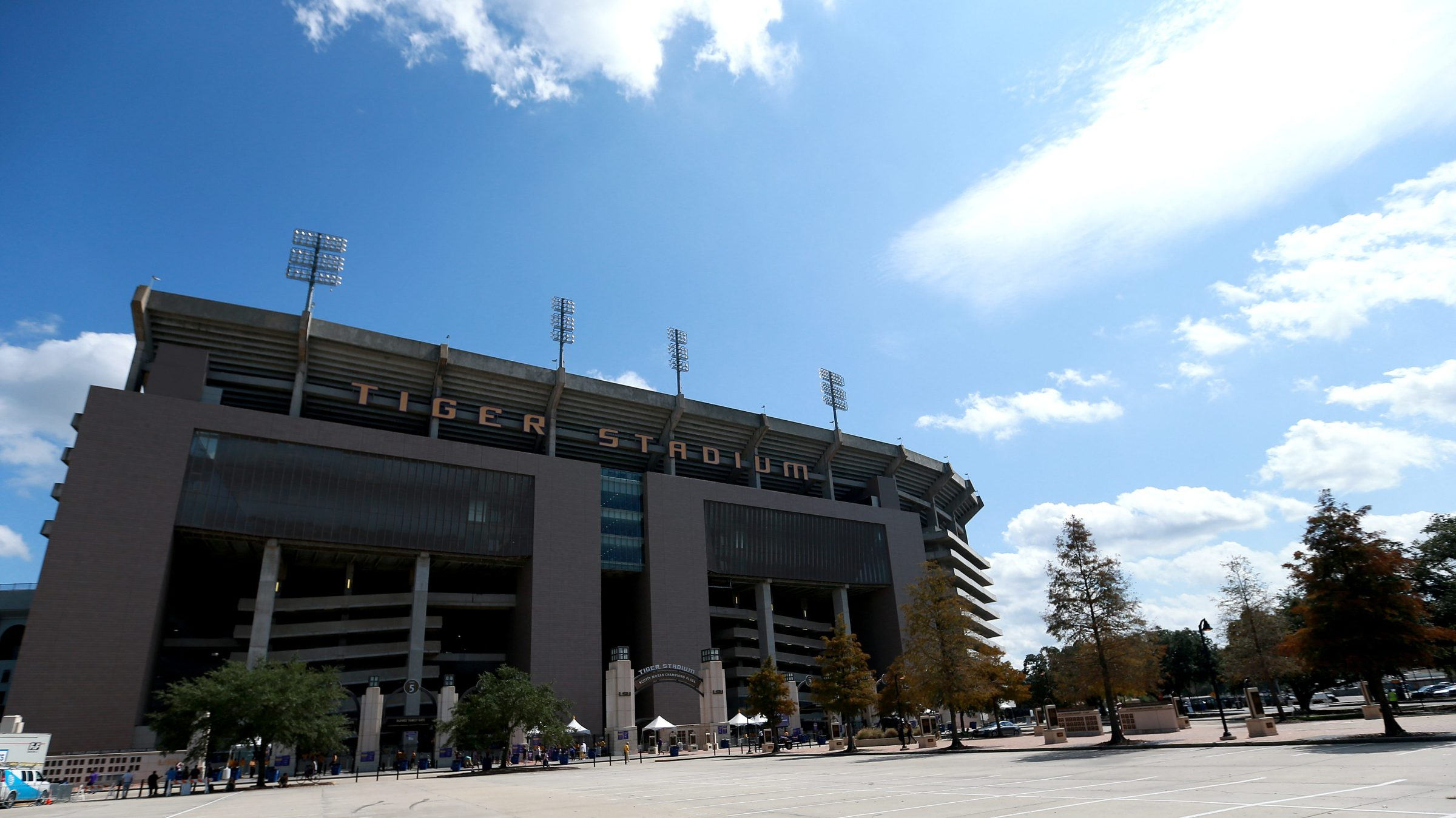 A general view of the exterior of Tiger Stadium.