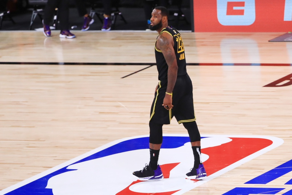 """LeBron James wears a butt-ugly """"Black Mamba"""" Lakers uniform in Game 5 of the 2019 Finals."""