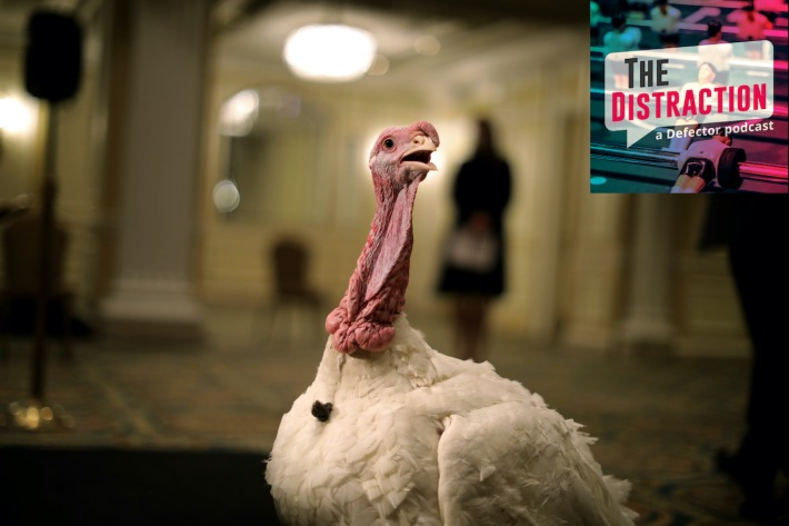 It's a turkey in the White House. For a change! Folks,