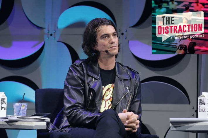 WeWork CEO Adam Neumann, seen here contemplating our podcast logo and doing a bunch of crime.