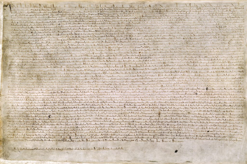 An image of Magna Carta, from the British Library.