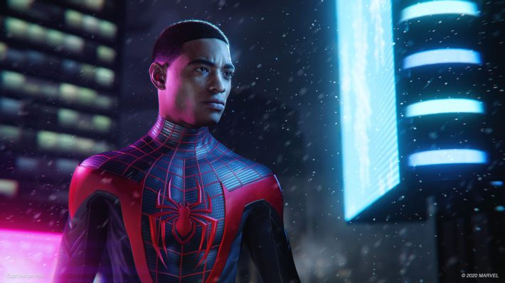 Miles Morales looks on Spider-Man: Miles Morales