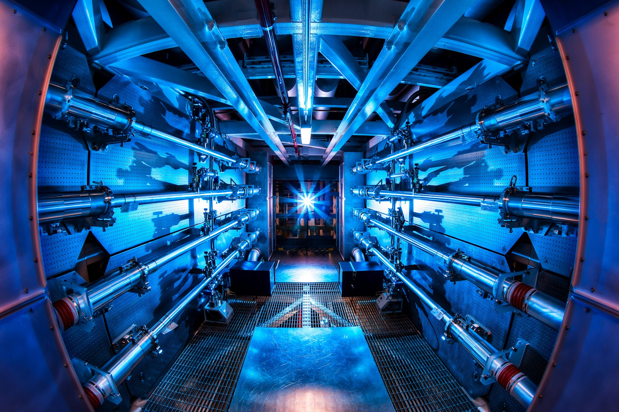 A cool look at something called a preamplifier, which is part of the National Ignition Facility's effort at creating a self-sustaining fusion reaction.