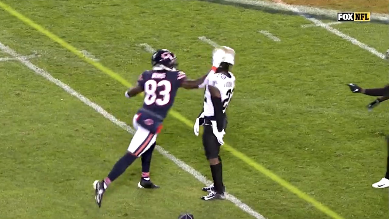Bears Javon Wims punching C.J. Gardner-Johnson