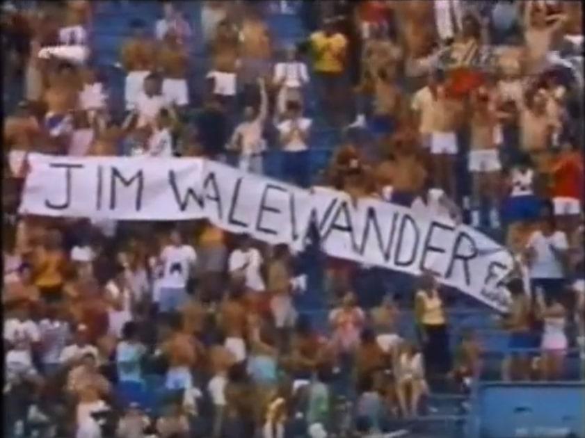 Jim Walewander banner at Tigers game