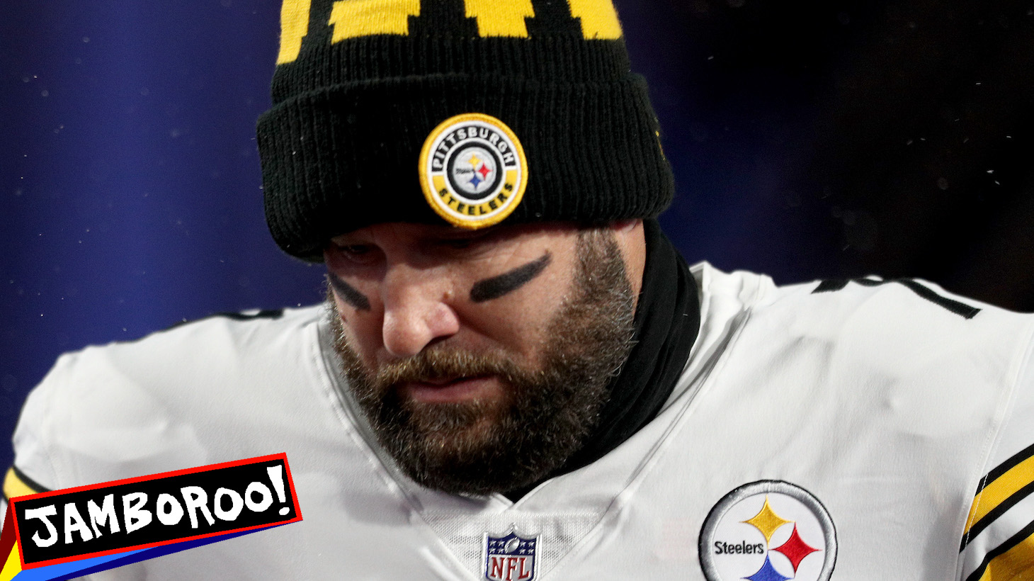 ORCHARD PARK, NEW YORK - DECEMBER 13: Ben Roethlisberger #7 of the Pittsburgh Steelers enters the field before the game against the Buffalo Bills at Bills Stadium on December 13, 2020 in Orchard Park, New York. (Photo by Bryan M. Bennett/Getty Images)