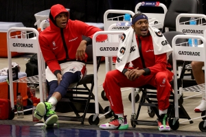 Russell Westbrook and Bradley Beal, of the Washington Wizards