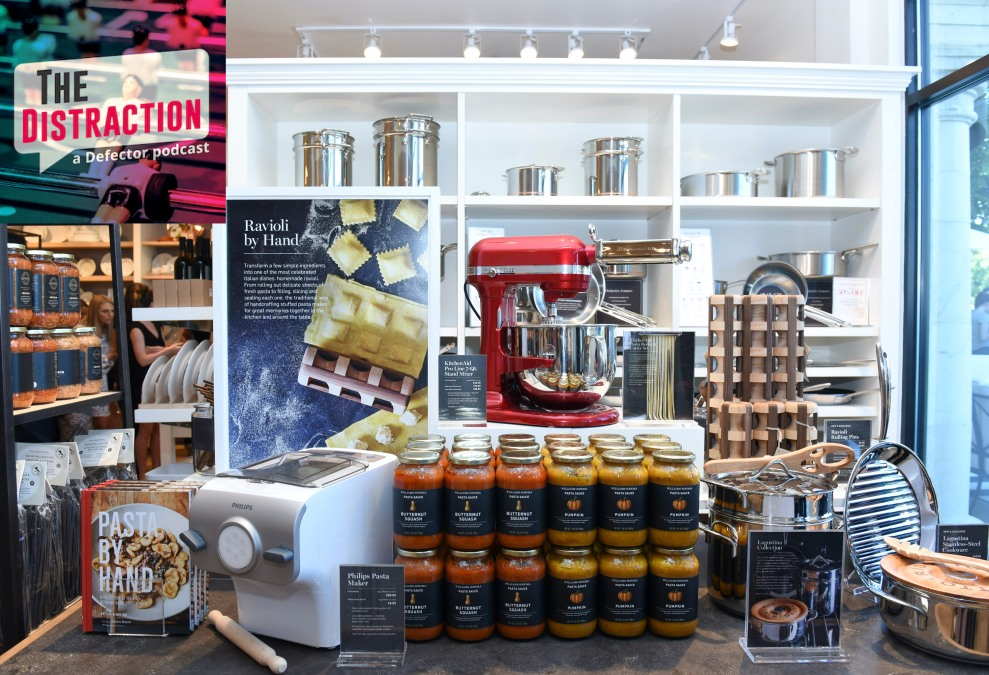An embarrassment of riches, or rich people things, on display at a Williams-Sonoma store.