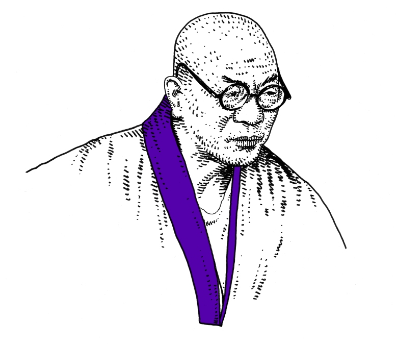 Matsutaro Shoriki, drawn by Adam Villacin