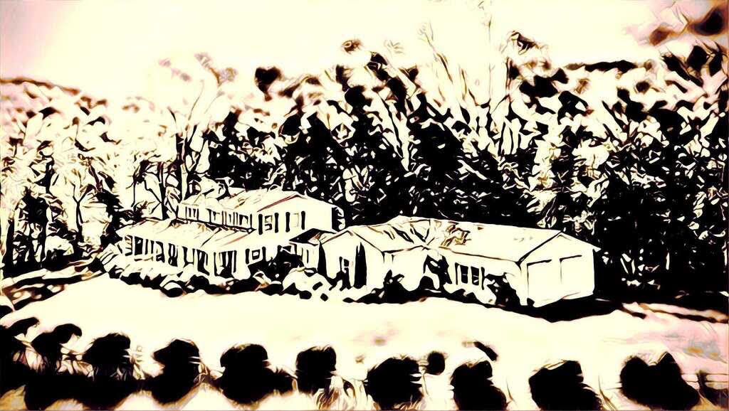 an artist's rendering of a house nestled in the blue ridge mountains