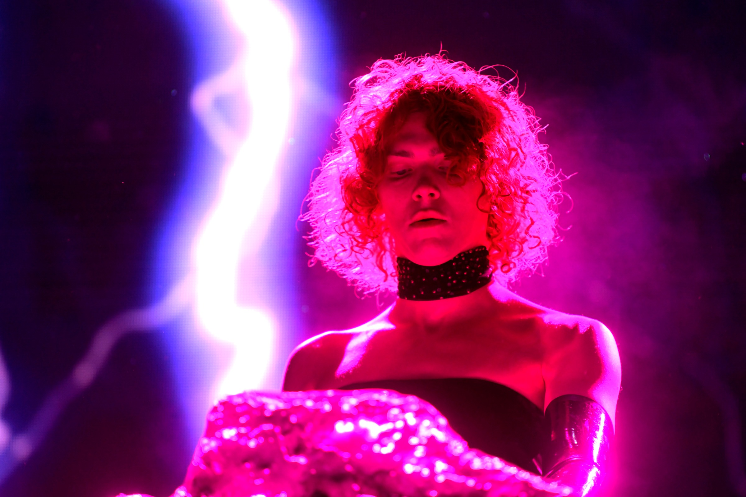 SOPHIE performs at Mojave Tent during the 2019 Coachella Valley Music And Arts Festival