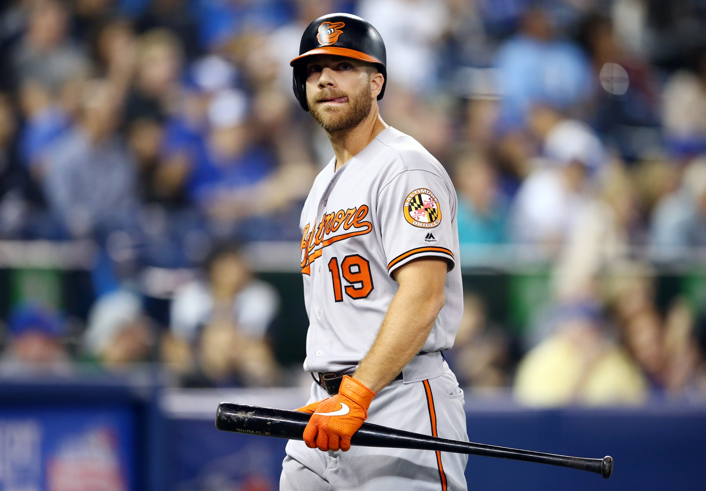 Chris Davis seen here immediately after making an out.
