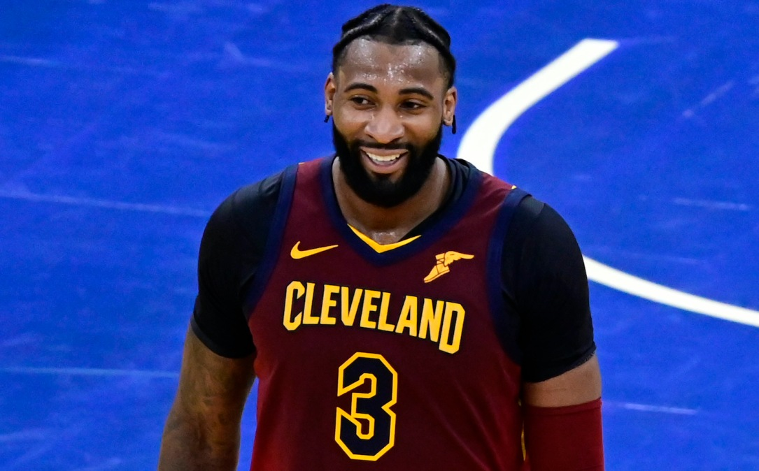 ORLANDO, FLORIDA - JANUARY 04: Andre Drummond #3 of the Cleveland Cavaliers reacts during the fourth quarter against the Orlando Magic at Amway Center on January 04, 2021 in Orlando, Florida. NOTE TO USER: User expressly acknowledges and agrees that, by downloading and or using this photograph, User is consenting to the terms and conditions of the Getty Images License Agreement. (Photo by Douglas P. DeFelice/Getty Images)