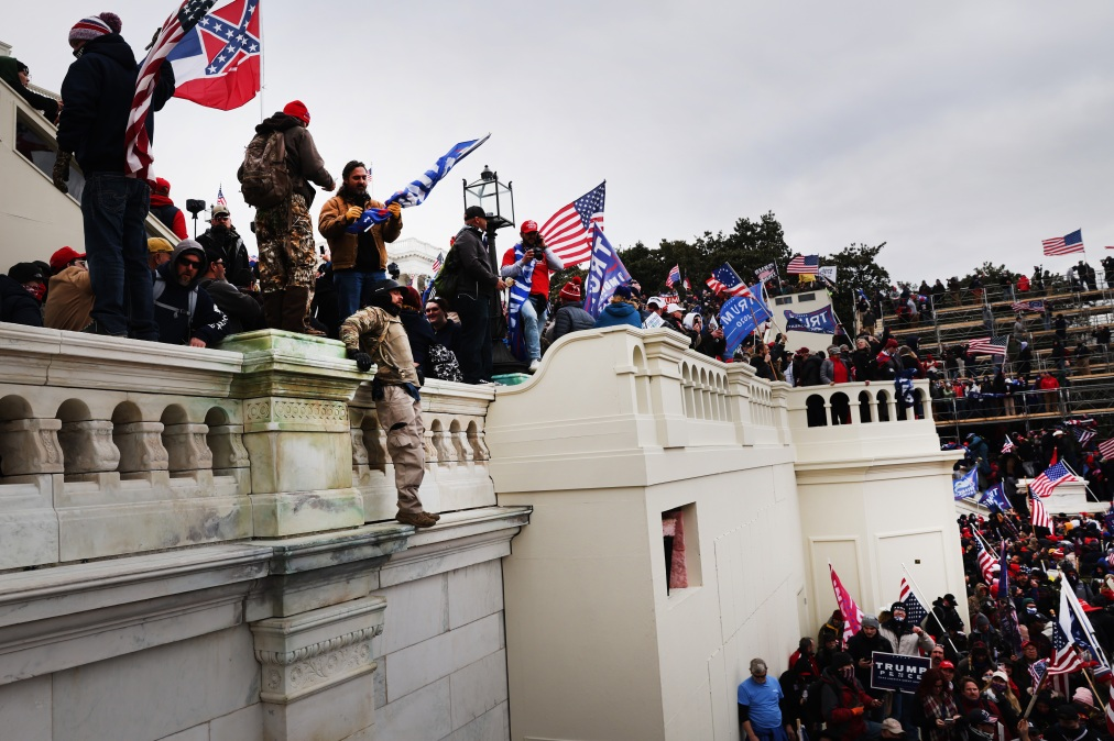 Some real dickweeds storming the U.S. Capitol Building.