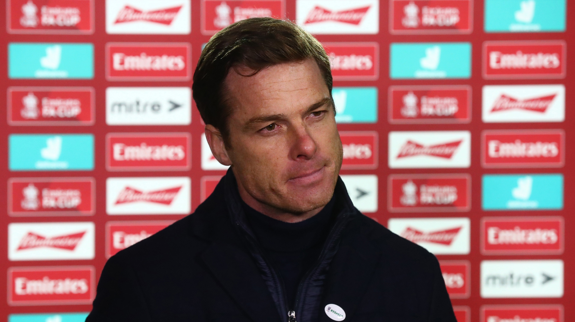 Scott Parker, Manager of Fulham is interviewed after the FA Cup Third Round match between Queens Park Rangers and Fulham at The Kiyan Prince Foundation Stadium on January 09, 2021 in London, England.