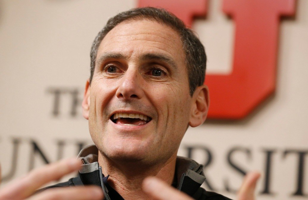 SALT LAKE CITY, UT - NOVEMBER 8: Pac 12 commissioner Larry Scott talks to the media before an NCAA football game between Utah Utes and the Oregon Ducks on November 8, 2014 at Rice-Eccles Stadium in Salt Lake City, Utah. (Photo by George Frey/Getty Images)