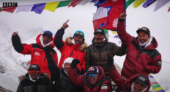 Eight of the 10 people that reached the top of K2.