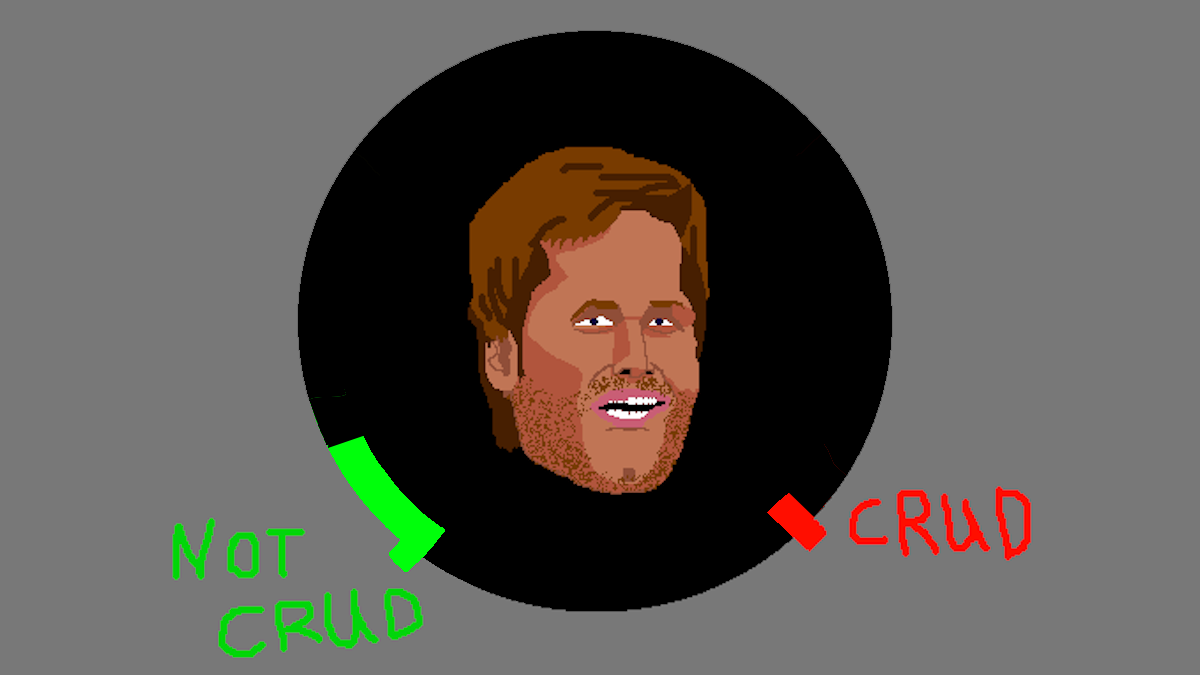 Tom Brady Crud-o-Meter today. He does not look very cruddy today.