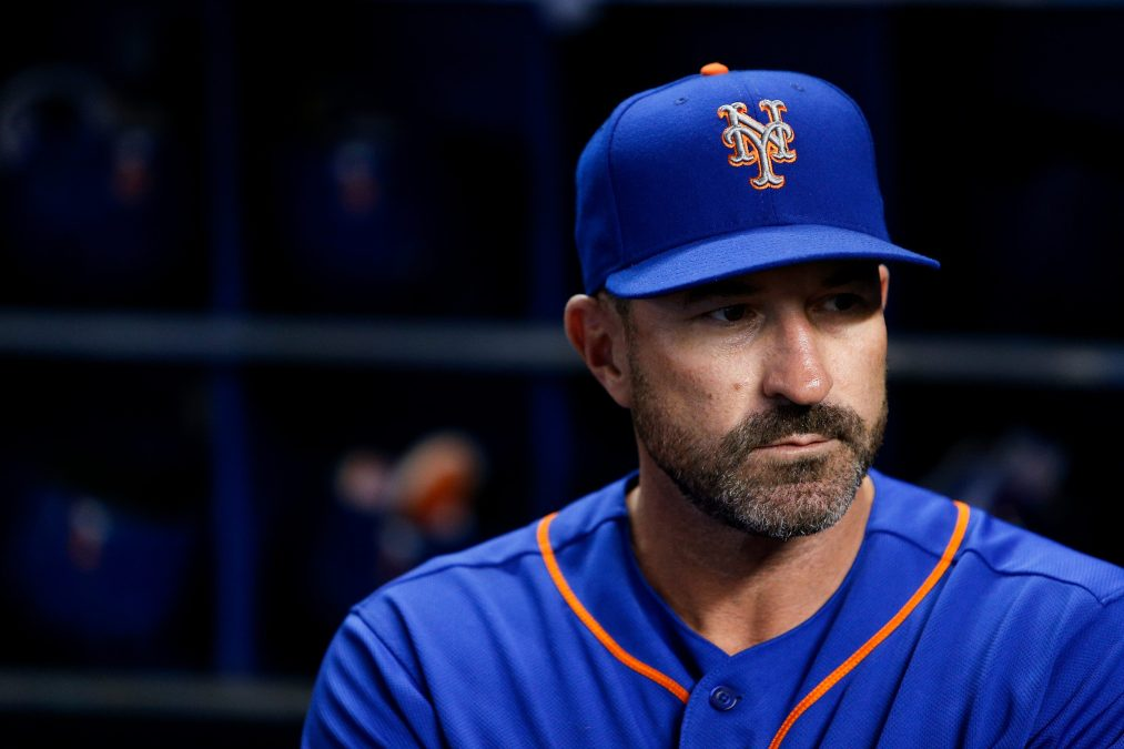 Mickey Callaway during his time as manager of the New York Mets