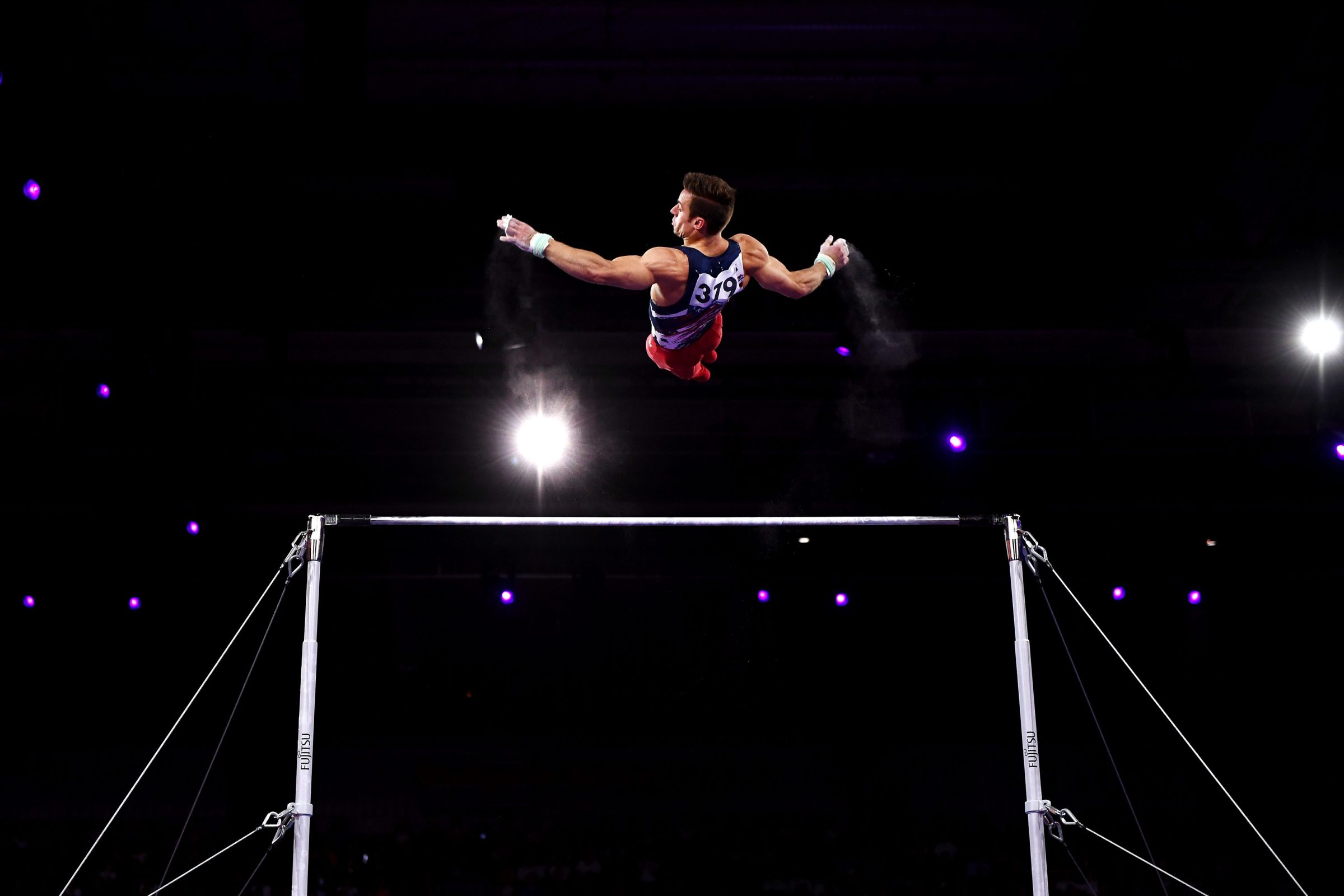 U.S. Gymnast Sam Mikulak, formerly of the University of Michigan, at the 2019 FIG Championships.