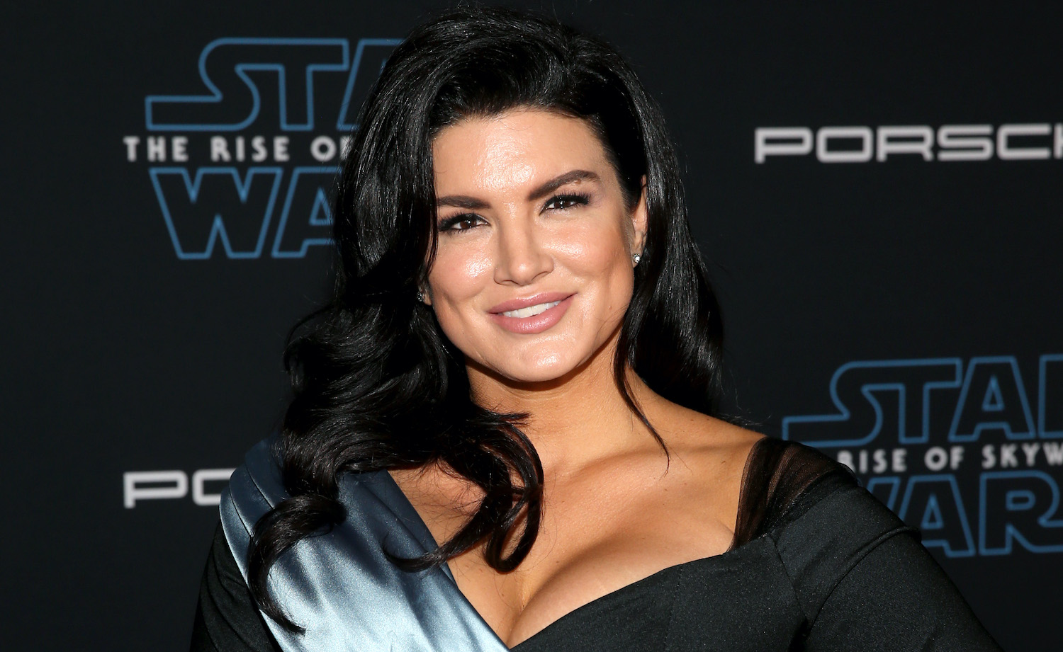 """HOLLYWOOD, CALIFORNIA - DECEMBER 16: Gina Carano arrives for the World Premiere of """"Star Wars: The Rise of Skywalker"""", the highly anticipated conclusion of the Skywalker saga on December 16, 2019 in Hollywood, California. (Photo by Jesse Grant/Getty Images for Disney)"""