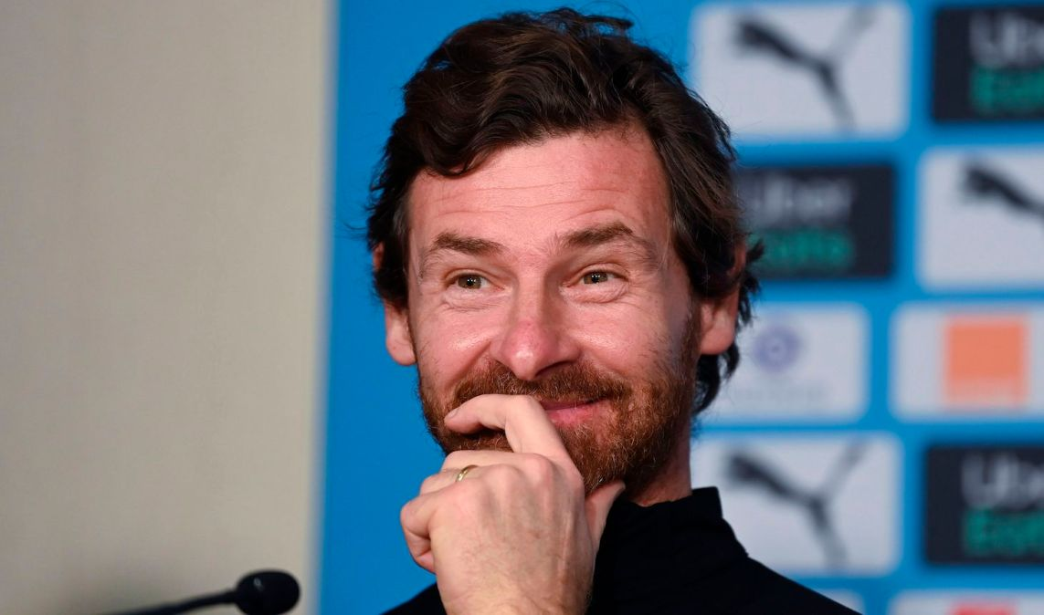 Olympique de Marseille's Portuguese coach Andre Villas Boas gives a press conference at the French L1 football club training camp in Marseille, southern France, on January 26, 2021. (Photo by Christophe SIMON / AFP) (Photo by CHRISTOPHE SIMON/AFP via Getty Images)