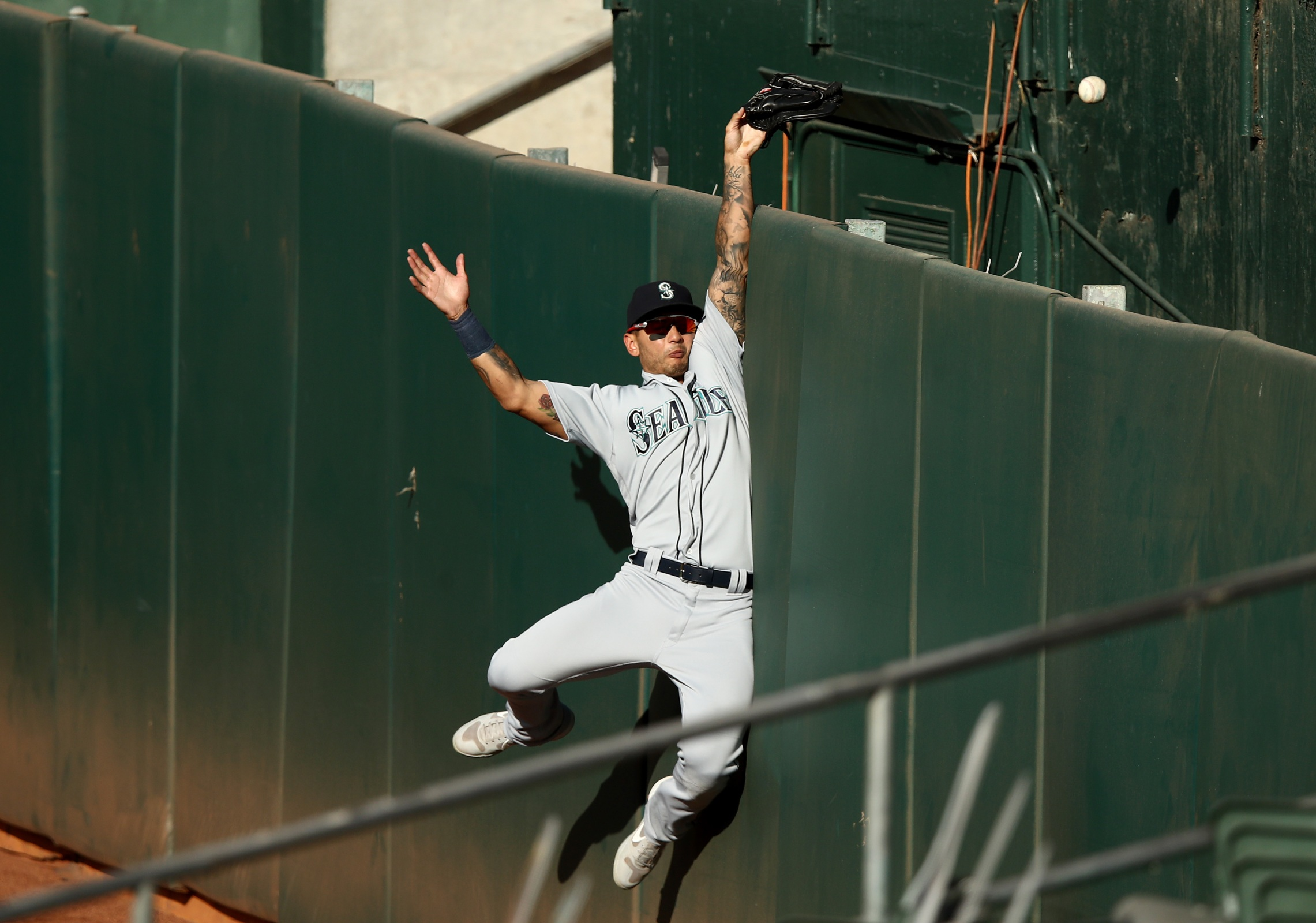 Mariners outfield Tim Lopes can't catch a homer, just as Kevin Mather couldn't quite grasp how to shut up.