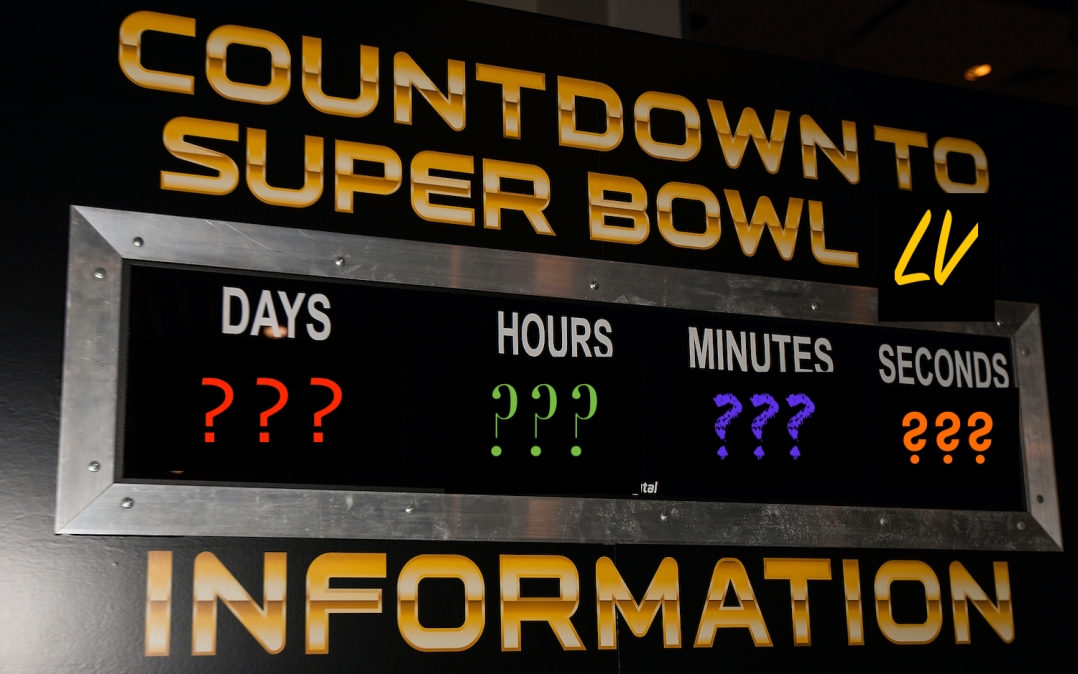 SAN FRANCISCO, CA - FEBRUARY 03: General view of a Super Bowl countdown clock during the NFL Experience exhibition before Super Bowl 50 at the Moscone Center on February 3, 2016 in San Francisco, California. (Photo by Jason O. Watson/Getty Images)