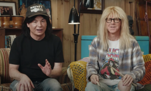 Mike Myers and Dana Carvey, in 2021, doing their beloved '90s Saturday Night Live bit.