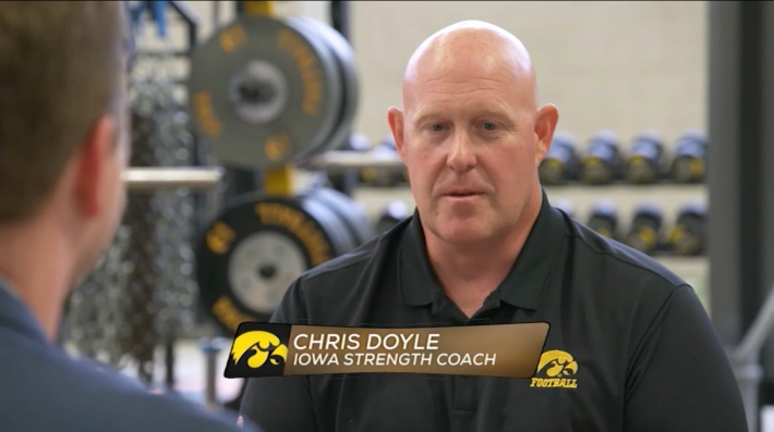 Former Iowa strength and conditioning coach Chris Doyle