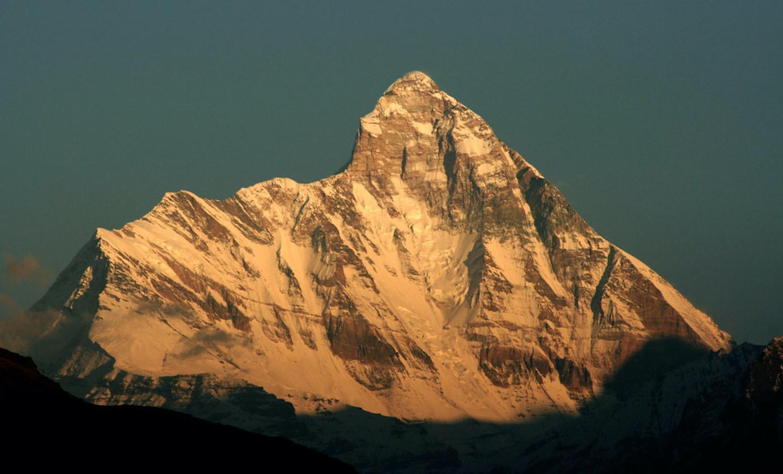 Nanda Devi as the sun sets.