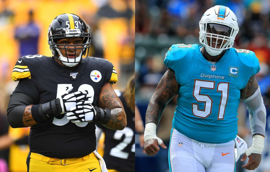Steelers lineman Maurkice Pouncey, and Dolphins lineman Mike Pouncey