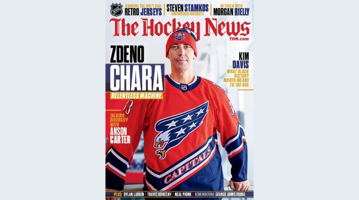 Zdeno Chara on the cover of The Hockey News