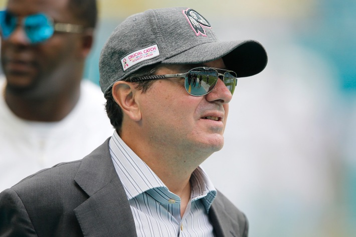 MIAMI, FLORIDA - OCTOBER 13: Owner Daniel Snyder of the Washington Redskins looks on prior to the game between the Washington Redskins and theMiami Dolphins at Hard Rock Stadium on October 13, 2019 in Miami, Florida. (Photo by Michael Reaves/Getty Images)