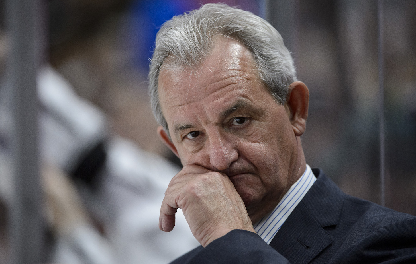 ST PAUL, MN - FEBRUARY 27: Head coach Darryl Sutter of the Los Angeles Kings looks on during the third period of the game against the Minnesota Wild on February 27, 2017 at Xcel Energy Center in St Paul, Minnesota. The Wild defeated the Kings 5-4 in overtime. (Photo by Hannah Foslien/Getty Images)